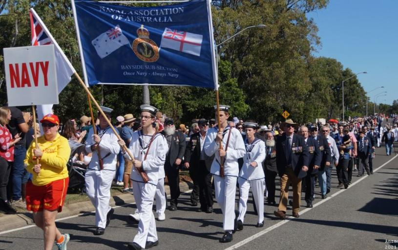 NAA Bayside Sub Section at the Redlands march ANZAC Day 2021
