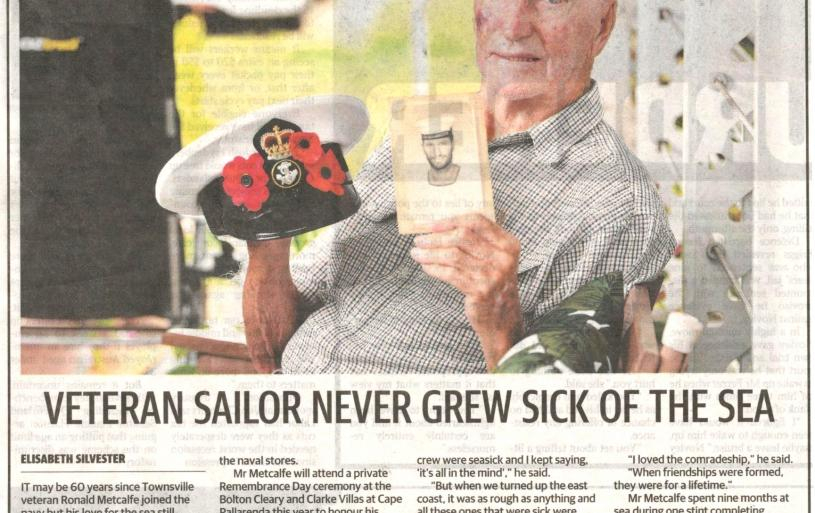 One of our members Ron Metcalfe feature in this article for Remembrance Day 2020. The words were not what we submitted though !