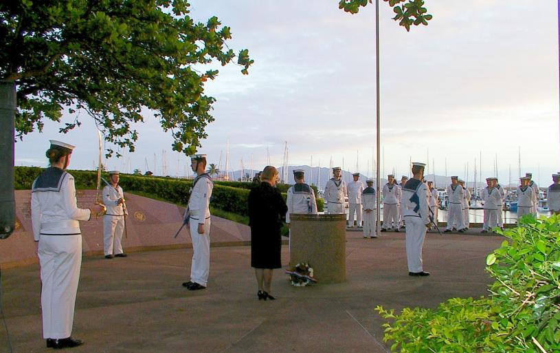 Dawn Service at the Battle of the Coral Sea Memorial - ANZAC Park Townsville
