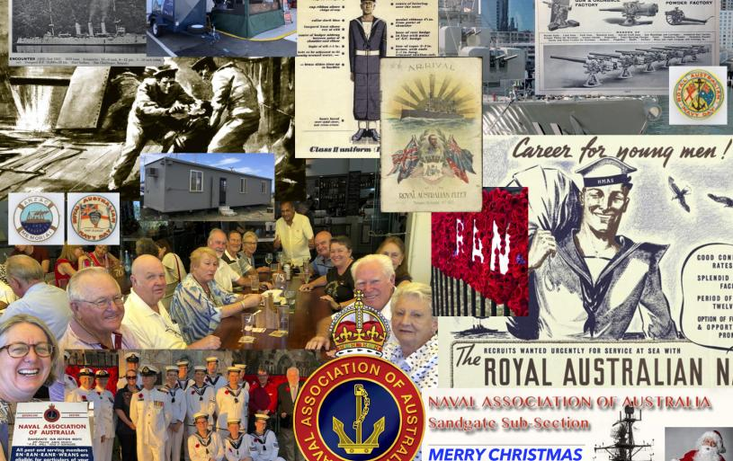 The placemat design for the Sub-Section's Christmas break-up meeting on 9 December 2018 was designed by the Sub-Section's Honorary Webmaster, Peter Collins, with lamination donated courtesy of Sub-Section member, Kaye Ross.