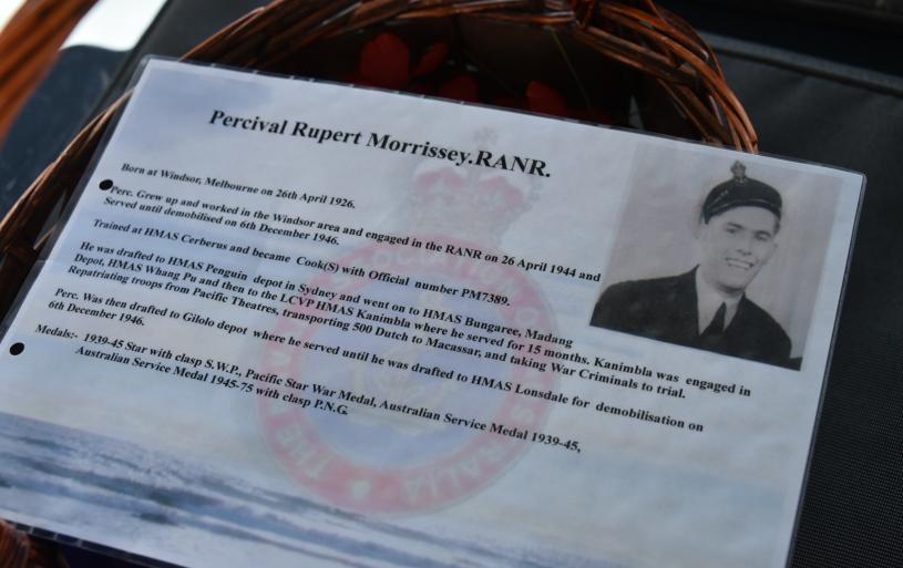 Commemoration Ceremony 14 March 2021,Perc Morrissey