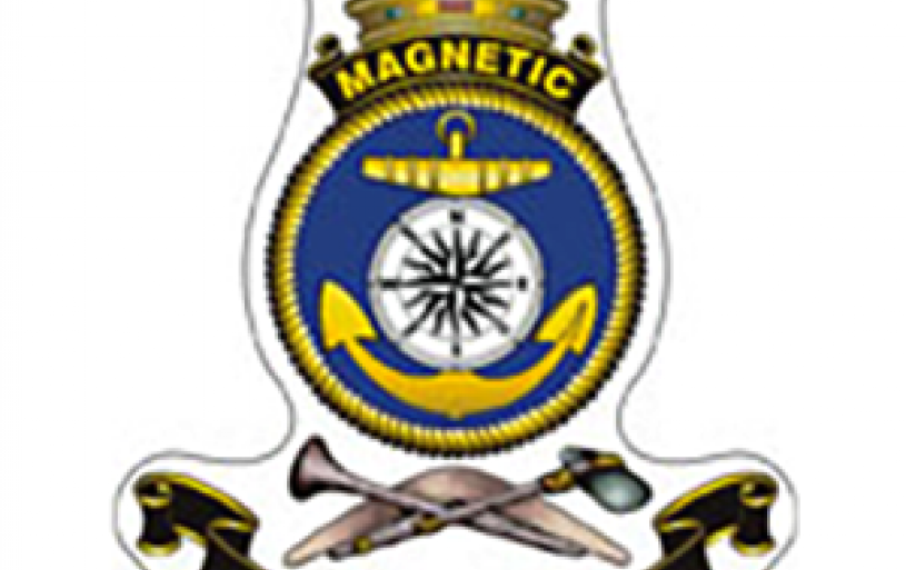 This is the Crest for HMAS Magnetic, on which our Sub-Branch logo is based. HMAS Magnetic was the RAN Naval base located on the Strand in Townsville during WW2.