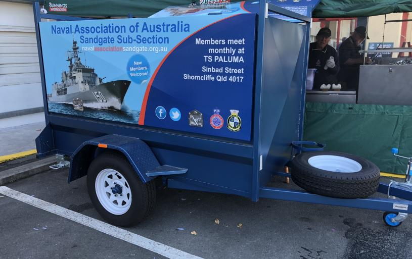 "The Sandgate Sub-Section's multi-purpose trailer is a ""familiar face"" outside Bunnings Carseldine once a month. Why not drop by and say ""hello"" (and grab a deliciously-prepared Sausage Sizzle - with or without onions - for just $2.50) this month. Check our FB page for dates."
