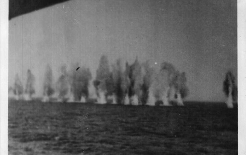 German bombs in the Mediterranean Sea, 1941