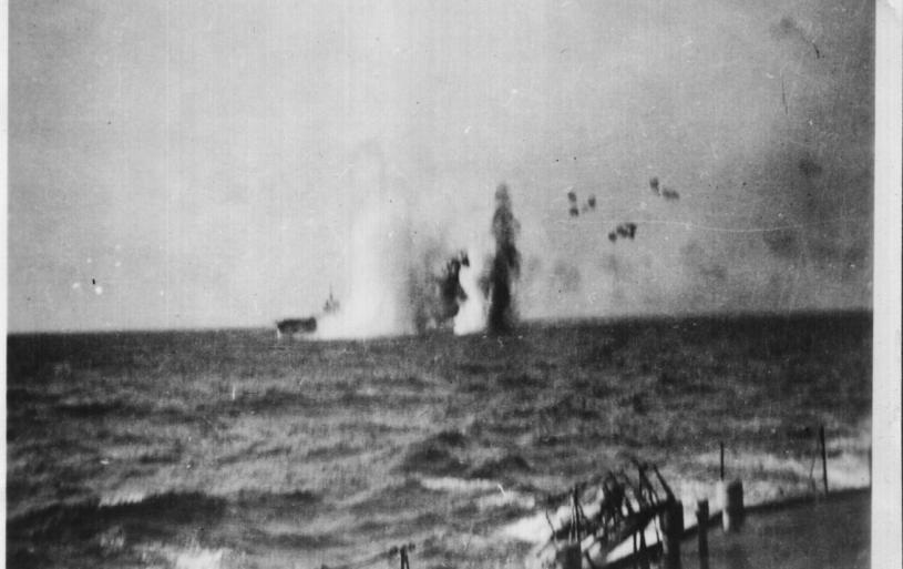 Bombing of HMS ILLUSTRIOUS - Mediterranean Sea 1942