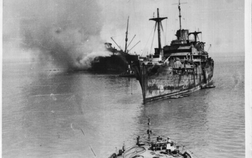 Destruction of RMS GEORGIC, SUEZ 1941