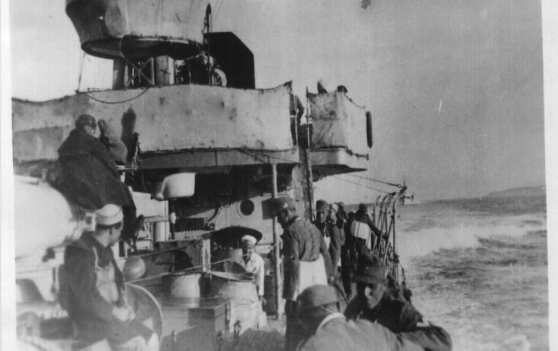 German troops embarking on Itilain Destroyers for Libya, 1941