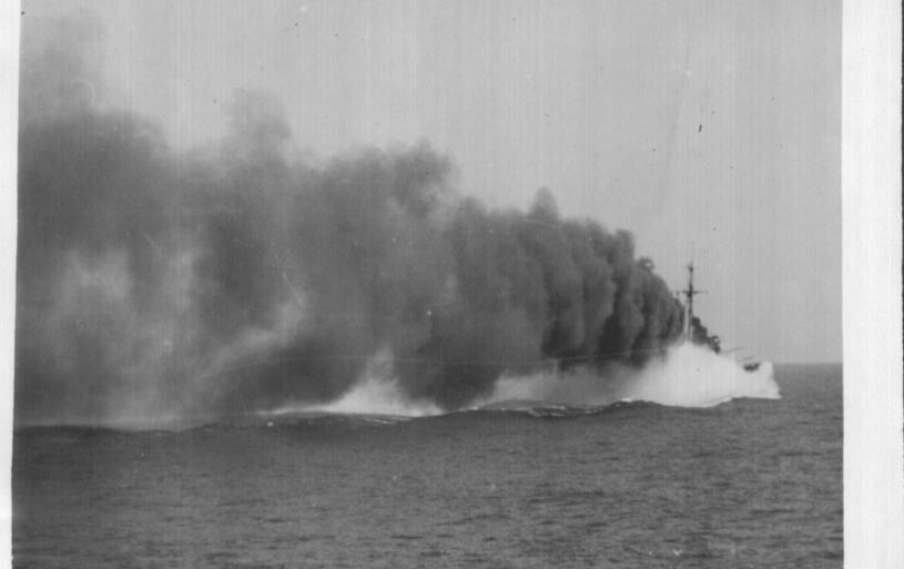 HMS AJAX Smoke Screen