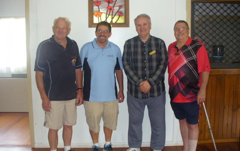 Vice President Merv Hampson, Ian Kellett Sunraysia President, Rob Milton and Lee Priest